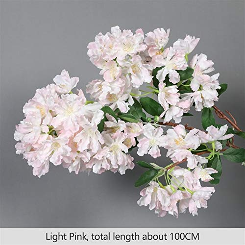 Fiori Artificiali 105 cm Falso Cherry Blossom Tree 3 Fork Sakura Branch Artificiale Lagerstroemia Fiore Seta Matrimonio Fiori Decorazione domestica Decorazioni per la Casa ( Color : Lagerstroemia 4 )