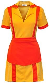 Cosplay Costume for Diner Uniform with Apron, Size: S-XL