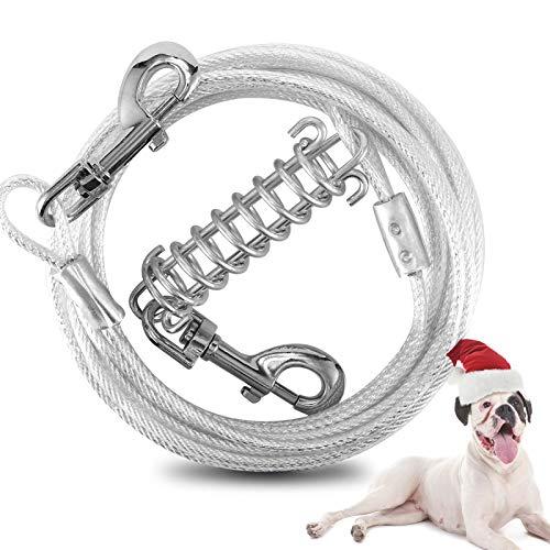 Snagle Paw Hundeläufer für Hof und Camping, 9 m, schweres Kabel mit drehbarem Clip, kein Verheddern, für Hunde bis zu 90 kg