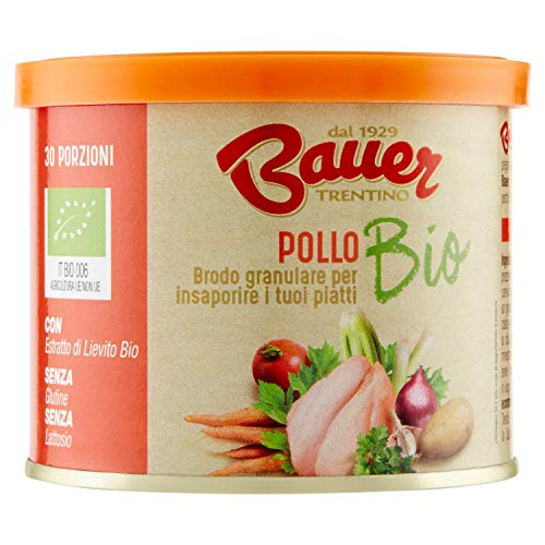 Bauer Brodo Granulare Istantaneo di Pollo Bio -120 g