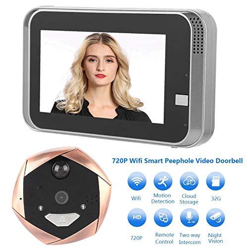 Digitale blikgat, camera voor in het gat voor de deur, kijkgat, HD 4,3 inch, kleur + nachtzichtfunctie + 32G, ondersteunt iOS/Android voor thuis, hotel/kantoor