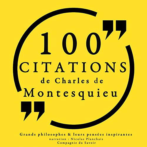 Couverture de 100 citations de Montesquieu