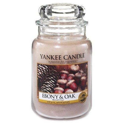 Yankee Candle Glaskerze, groß, Ebony and Oak