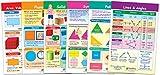 NewPath Learning Math Bulletin Board Chart Set, Shapes & Figures, Set of 6