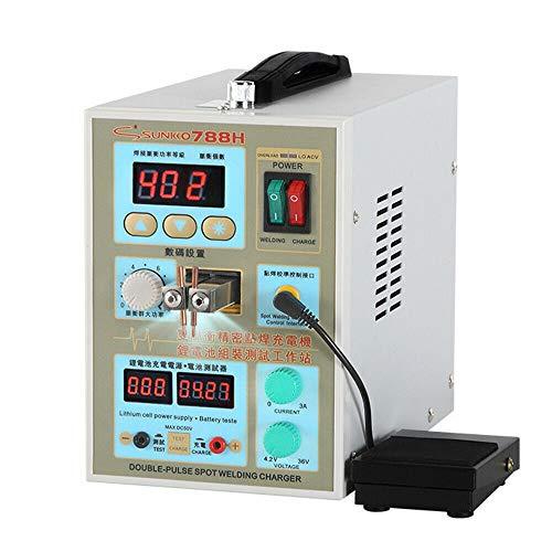 Soldadora de puntos LED, 60 A, 2 en 1, dispositivo de soldadura por punto, 788H, cargador de batería Welder Pulse, dispositivo de soldadura por punto, AC 220 V/4,2 – 36 V s