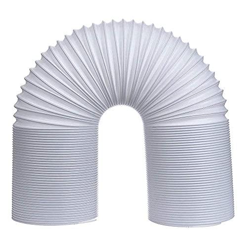 Klima Abluftschlauch, PVC Abluftschlauch Klimagerät Adapter,1,5M/2M,Ø150mm/130mm,Einfach Montage,Flexibel und Leicht,Abluftschlauch für Klimagerät Wäschetrockner Abzugshaube (2m * Ø150mm)