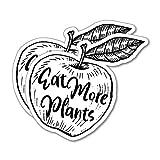 2X Eat More Plants Apple Sticker Decal Vegan Plant Vegetarian Food Laptop Planet