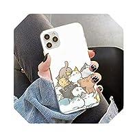 Auangao KawaiiMolang漫画アニメ猫電話ケースFor iPhone11 12 pro XS MAX 8 7 6 6S Plus X 5S SE 2020XRケース-a14-For 6plus or 6s plus