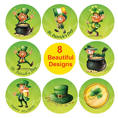 AM-Clearance St. Patrick's Day Decorations Window Clings Decor, Extra Large Shamrock Irish Gnome Top Hat Gold Coins Decal Stickers for Kids School Home Accessories Party Supplies Gifts