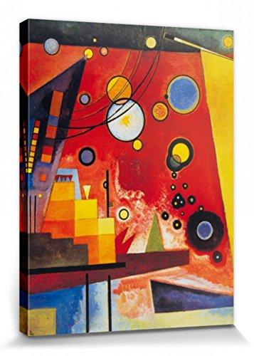 1art1 Wassily Kandinsky - Schweres Rot, 1924 Bilder Leinwand-Bild Auf Keilrahmen | XXL-Wandbild Poster Kunstdruck Als Leinwandbild 80 x 60 cm