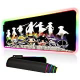 HIT-Man REB-ORN RGB Mouse Pad Gaming, Large Gaming Mouse Pads Glowing LED Mousepad Surface Waterproof Non-Slip Rubber Base for Woman Man (31.5 x 12 in)