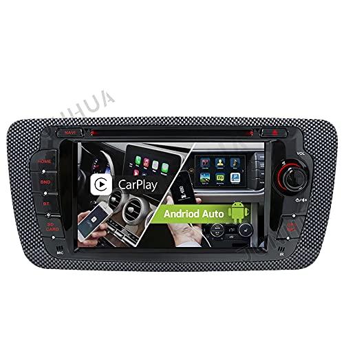 "Android 10.0 Dual-Tuner Autoradio Android Auto+Carplay 2G+32GB Quad-Core Rohm-DSP Bluetooth 5.0 mit Navigation 7"" DVD GPS DAB+ WiFi WLAN OBD2 AUX für SEAT Ibiza 2009-2013"