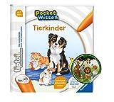 Collectix Tiptoi Ravensburger Livre de poche avec inscription « Kids Animals » + autocollants animaux pour enfants à partir de 4 ans