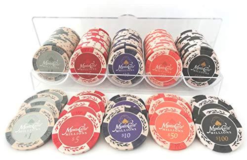 ARK.COP 高級ポーカーチップ カジノチップ 5種類 100枚セット 14g