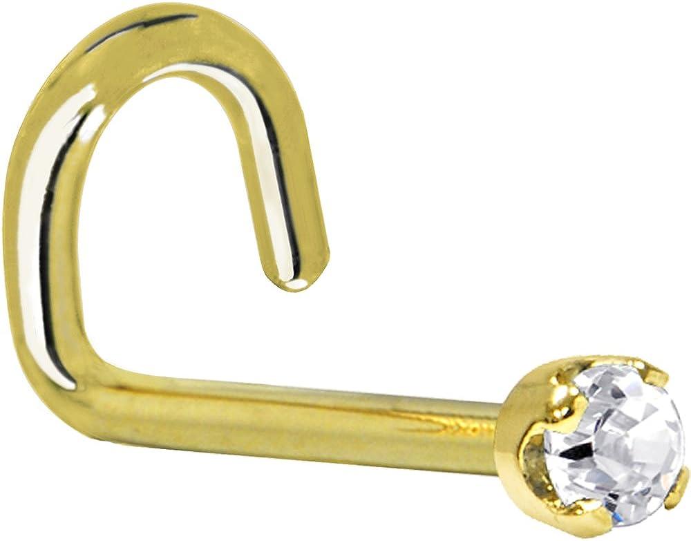 Body Candy Solid 14k Yellow Gold cttw Popular standard Genuine 0.030 Diamon 2mm trust