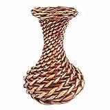 JAROWN puro hecho a mano de seda flor cesta de mimbre ratán