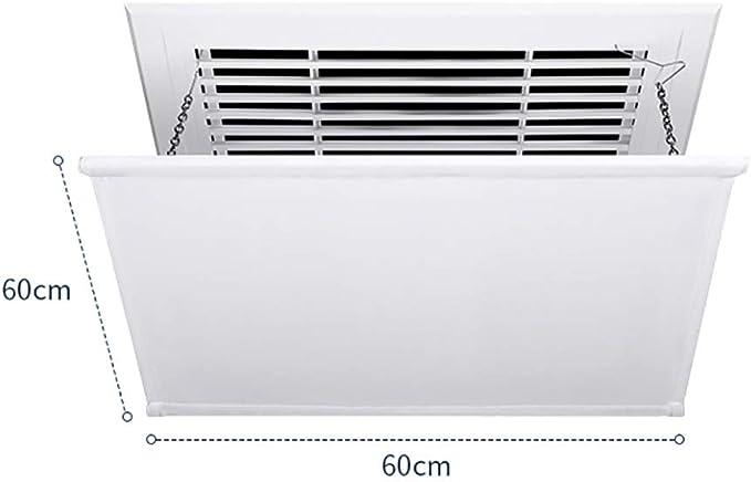 Longueur: 54 Cm Une Pi/èCe D/éFlecteur de Climatiseur Pour Climatiseur Central de Plafond Angle R/éGlable Mat/éRiau Abs L/éGer Emp/êChe LAir de Souffler Droit