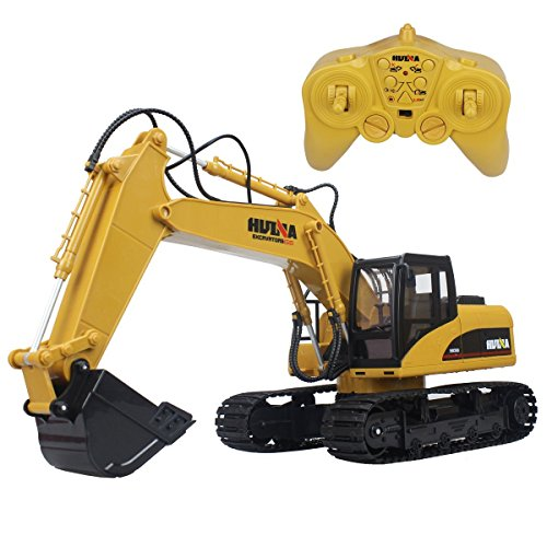 Big Daddy Super Powerful Full Functional DIE-CAST 15 Channel Professional Remote Control Excavator Tractor Toy with Lights & Sound