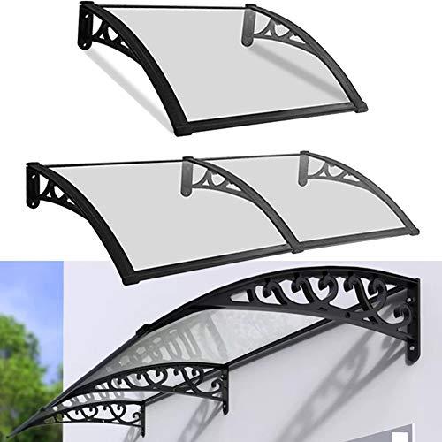 LRZLZY 2.7mm Grueso de policarbonato Placas de Cubierta de la Cortina Resiste-corrosión for la casa ventanales, tamaños Diferentes (Size : 160CM X 80CM)