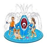 Splash Pad, Verano Al Aire Libre Juguetes Kiddie Bebé Piscinas Backyard Trampoline Juegos de césped Infantil Wading Pool Slide Water Play para Edades 1-12