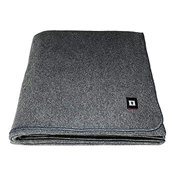EKTOS 80% Wool Blanket 4.0 lbs 66  x 90   Twin Size  - Grey