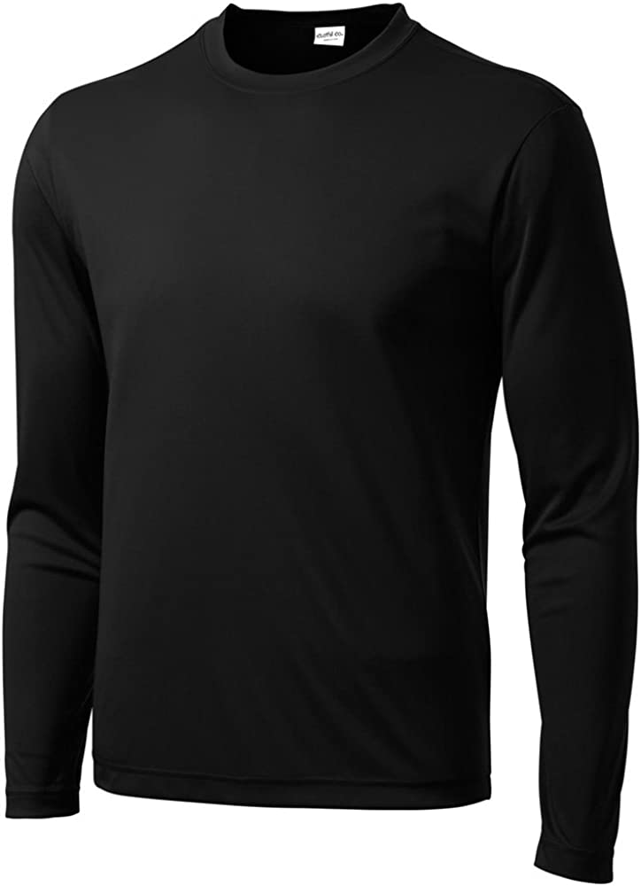 Clothe Co. Men's Big & Tall Long Sleeve Moisture Wicking Athletic T-Shirt