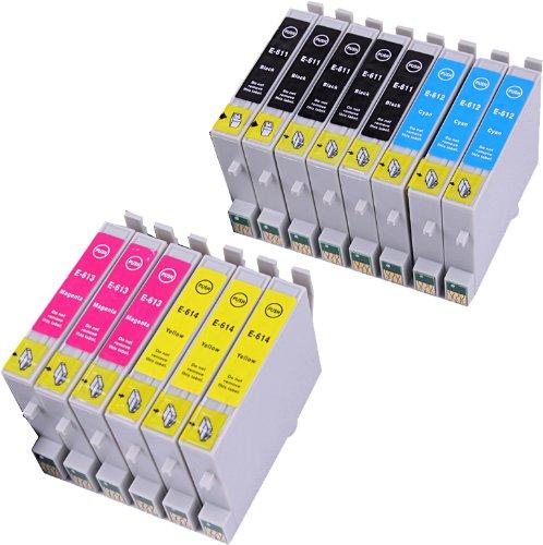 14 Multipack de alta capacidad Epson T0615 Cartuchos Compatibles 5 negro, 3 ciano, 3 magenta, 3 amarillo para Epson Stylus D68, Stylus D88, Stylus D88+, Stylus DX3800, Stylus DX3850, Stylus DX4200, Stylus DX4800, Stylus DX4850. Cartucho de tinta . T0611 , T0612 , T0613 , T0614 , TO611 , TO612 , TO613 , TO614 © 123 Cartucho