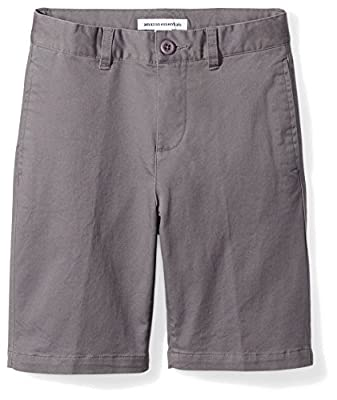 Amazon Essentials Big Boys' Woven Shorts, Gray,12