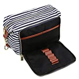 BAOSHA XS-04 Canvas Travel Toiletry Bag Shaving Dopp Case Kit for Women and ladies (Blue)