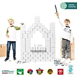 Gigi Blocks-Bloques (96 Unidades, tamaño Grande), Color White (G-3W)