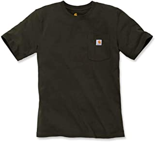 Mens Workw Pocket Short Sleeve Cotton T Shirt tee