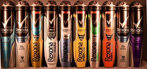 Rexona Body Spray Anti-Transpirant (6X 200 ml/6.67 oz, Mix within the available kinds)