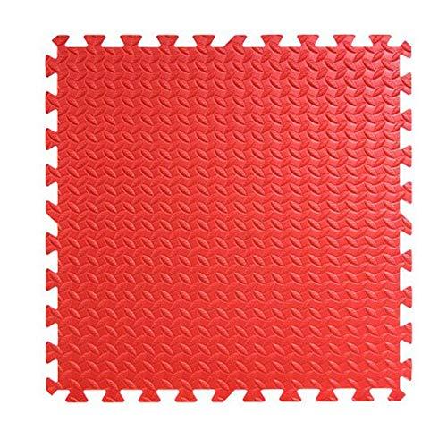 WZHIJUN Tapis de jeu Portable Enfant Épissure Bébé Tapis de Mousse 60x60cm avec Bandes Latérales 11 Couleurs (Color : Red, Size : 20pcs Pack)