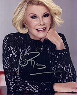 Joan Rivers BLACK TOP In Person Autographed Photo