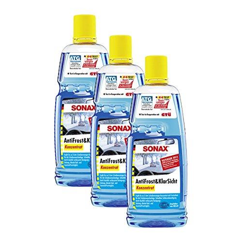 SONAX 3 x 03323000 Anti Frost & klarsicht Concentré 1l