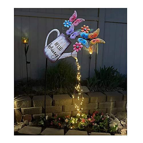 CZX Riego Lata decoración jardín decoraciongarden Arte luz decoración Mariposa Luces 31.4in Luces de Cadena led decoración de la decoración de jardinería al Aire Libre lámpara de césped Solar