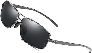 Kính mắt cao cấp nam – Polarized Sunglasses for Men Driving Fishing Mens Sunglasses Rectangular Metal Frame 100% UV Protection