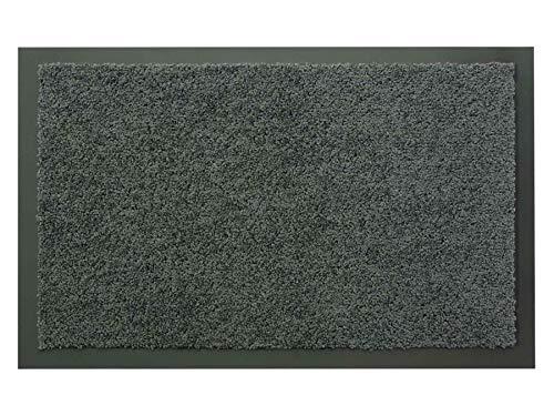Schmutzfangmatte Sauberlauf Matte DANCER – Grau, 80x120 cm, Waschbare, Rutschfeste, Pflegeleichte Fußmatte, Eingangsmatte, Küchenläufer Matte, Türmatte Haustür Innen & Außen