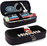 YOLOP Fashion Doraemon The Big and The Small Sit in A Row - Estuche de piel para lápices unisex (talla única), color negro