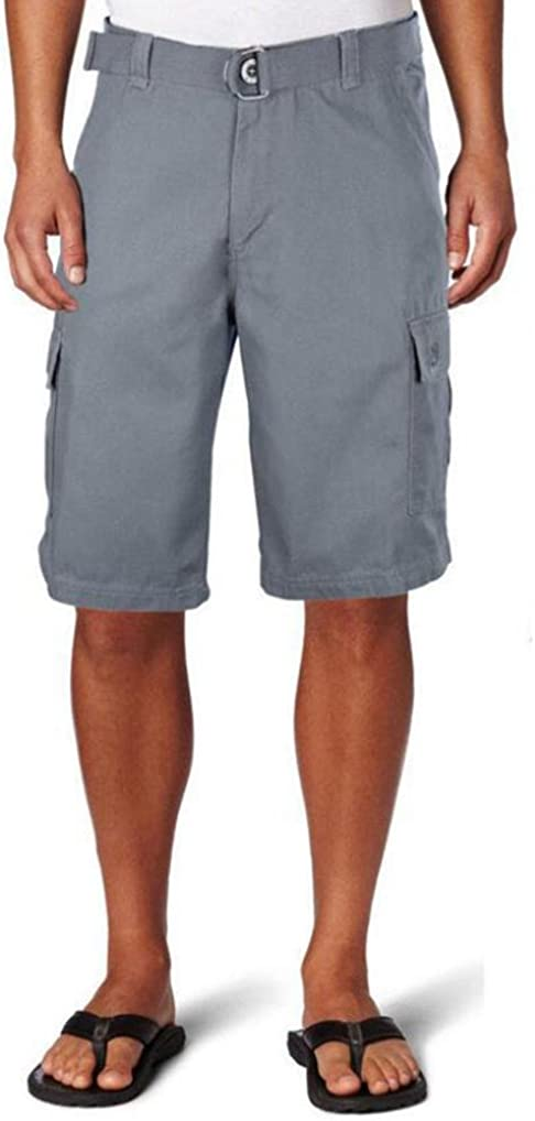RAISINGTOP Men Sweatpants Slacks Mid Waist Belt Baggy Shorts with Pockets Casual Capri Pants Shorts Lounge Loose Fit