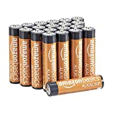 Una confezione da 20 batterie alcaline AAA, da 1.5 volt, ideali per una varietà di dispositivi, tra cui controller di gioco, giocattoli, torce elettriche, fotocamere digitali e orologi 10 anni di durata, conservazione senza perdite di energie; la gua...