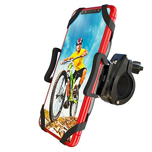 """CNYMANY Porta Cellulare Bici, Supporto Smartphone per Bici Manubrio MTB Universale 360° Rotabile Telefono Portacellulare Moto Bicicletta e Dispositivi Elettronici per 4.5""""-7.0"""" iPhone Samsung Huawei"""