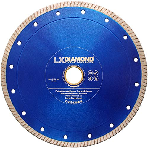 Disco de corte de diamante de azulejos PREMIUM Ø 200 mm x 30.0 mm - gres porcelánico - cerámica - azulejos de piedra natural - azulejos - baldosas - clínker - tejas - ladrillo clínker 200 mm