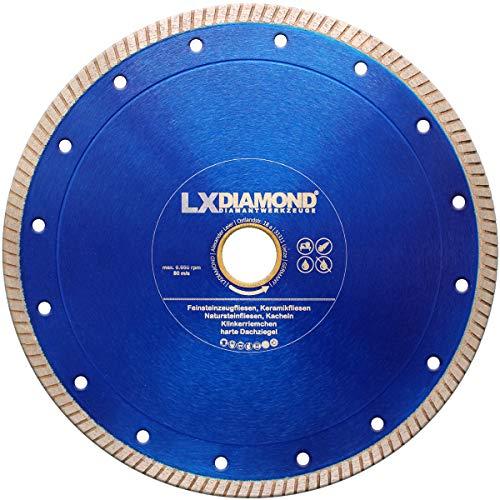 LXDIAMOND Diamant-Trennscheibe 230mm x 25,4mm Premium Diamantscheibe für Fliesen Feinsteinzeug Bodenfliesen Kreamik Natursteinfliesen Klinkerriemchen - extra dünn für exakte Schnitte 230 mm