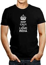 Idakoos Keep Calm and Love India T-Shirt