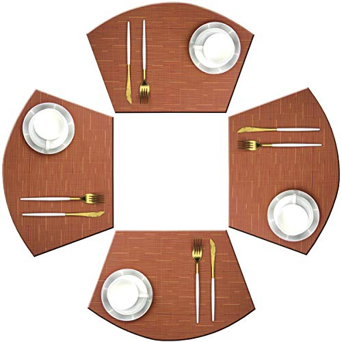 Bright Dream Wedge Shape Placemats for Round Tables