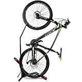 DX Bike Floor Stand Bike Rack Stand for Vertical/Horizontal Indoor Mountain Bike, Space Saving, Fit for 20-29 Inch Bikes