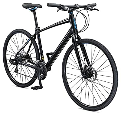 Schwinn Vantage F3 700C Performance Road Bike with Flat Bar and Disc Brakes, 56cm/Medium Frame, Black