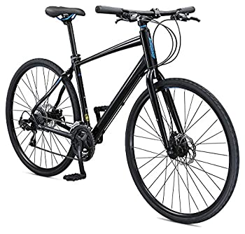 Schwinn Vantage F3 Mens/Womens Sport Hybrid Bike 21-Speed Drivetrain 60cm/Extra Large Aluminum Frame Flat Bar Disc Brakes Smooth Ride Technology Black