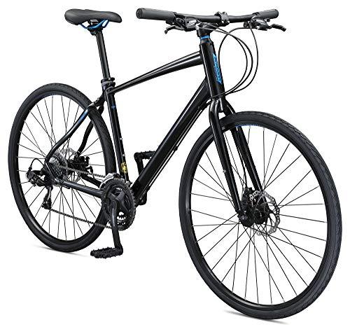 Schwinn Vantage F3 Mens/Womens Sport Hybrid Bike, 21-Speed Drivetrain, 55cm/Small Aluminum Frame, Flat Bar, Disc Brakes, Smooth Ride Technology, Black